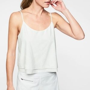 Athleta white perforated Cami tank top